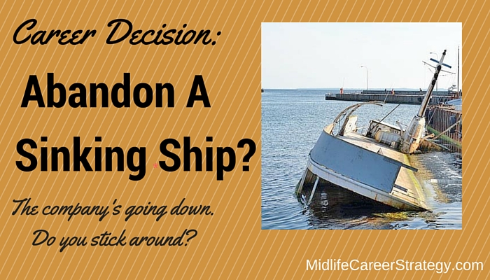 Career Decision: Leave a sinking ship (or enjoy more cheese?)